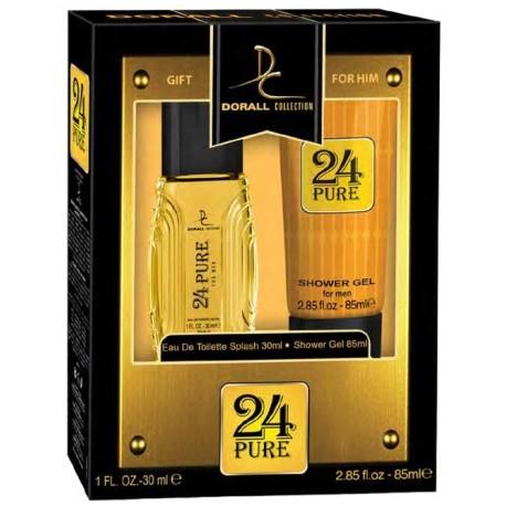 Estuche Set - Gift for Him 24 Pure For Men Eau De Toilette 30 ML + Shower gel 85 ML - Dorall Collection