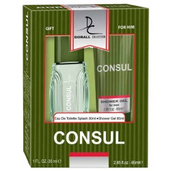Estuche Set - Gift for Him Consul For Men Eau De Toilette 30 ML + Shower gel 85 ML - Dorall Collection