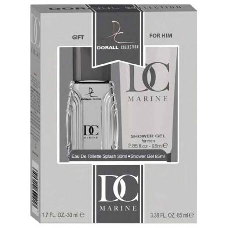 Estuche Set - Gift for Him DC Marine For Men Eau De Toilette 30 ML + Shower gel 85 ML - Dorall Collection