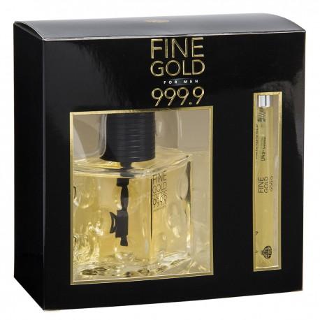 Fine Gold Man 999.9 Real Time - Eau de toilette for men EDT 100ml + 10ml Fine Gold Men